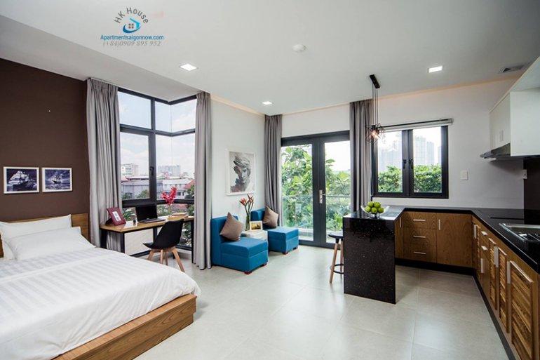 Căn hộ dịch vụ đường Nguyễn Cửu Vân quận Bình Thạnh dạng studio 2 ID 647 số 5
